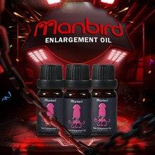 Manbird Men Herbal Sex Aphrodisiac Penis Enlargement Massage Oil Lubricant Big Dick Permanent Thickening Increase Products
