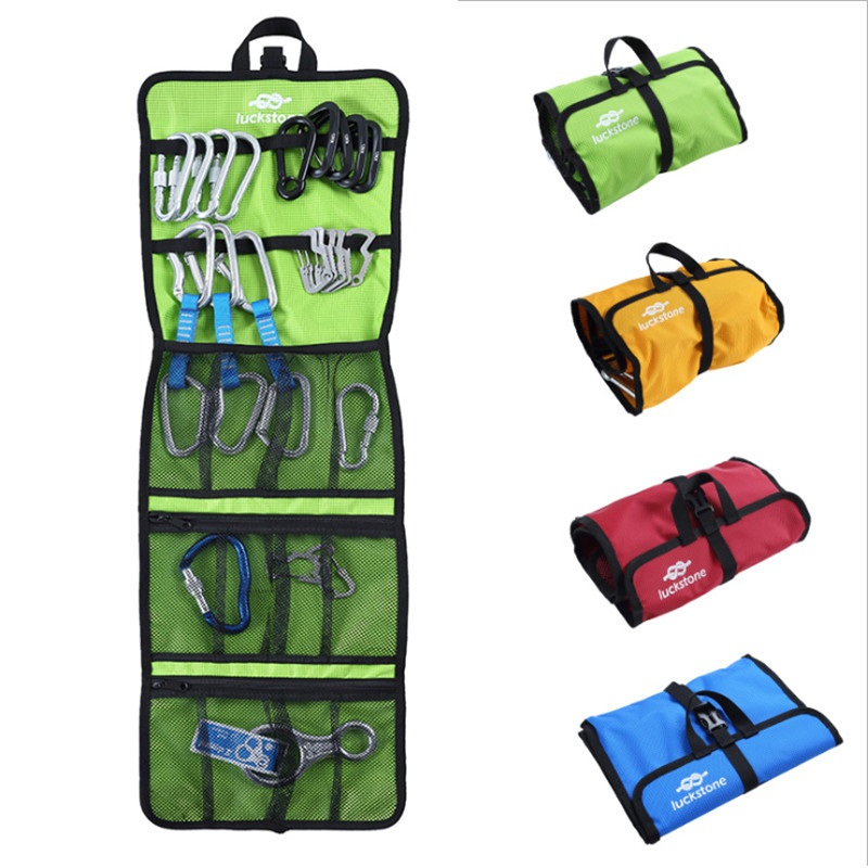 Outdoor Mountaineering Rock Climbing Safety Harness Hook/Rope Bag Quickdraw Storage Bag Tree Climbing Equipment Wall EquipmentOutdoor Mountaineering Rock Climbing Safety Harness Hook/Rope Bag Quickdraw Storage Bag Tree Climbing Equipment Wall Equipment