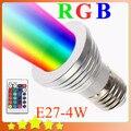E27 LED Bulb RGB Colorful Lamps 16 Color Change Spotlight 110V/220V LED Lamp with 24Key IR Remote Controller Free Shipping