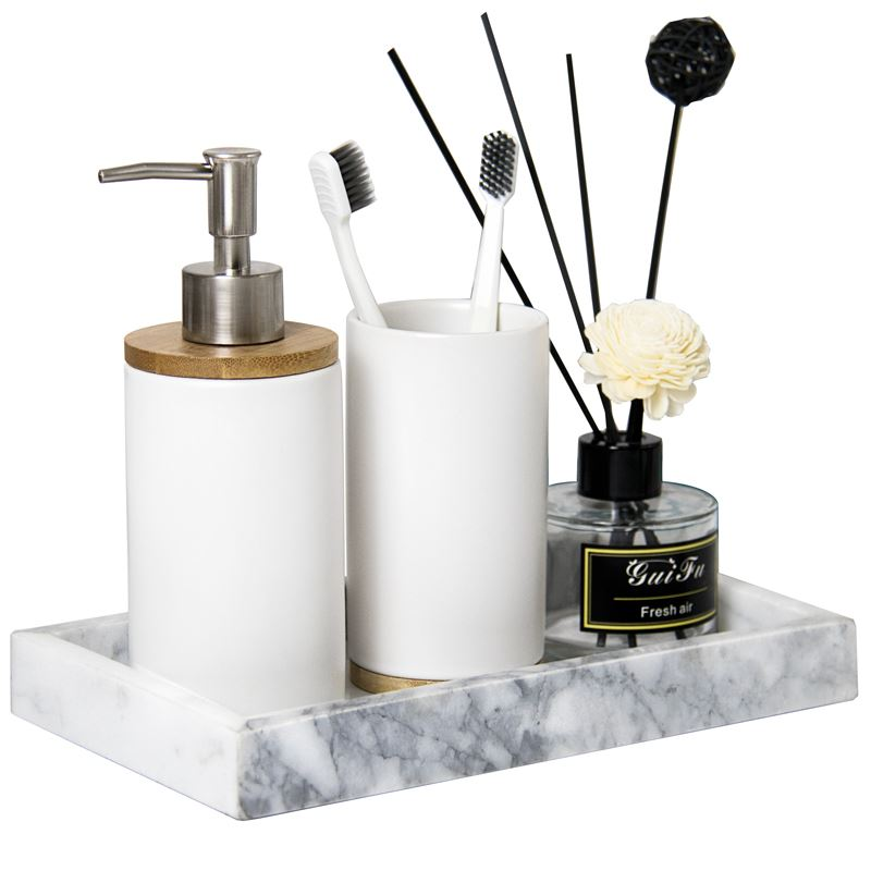 Creative Matte Ceramic Bathroom Tumblers Multi-function Teeth Brushing Cups Kitchen Dishwashing Liquid Emulsion Container Sets