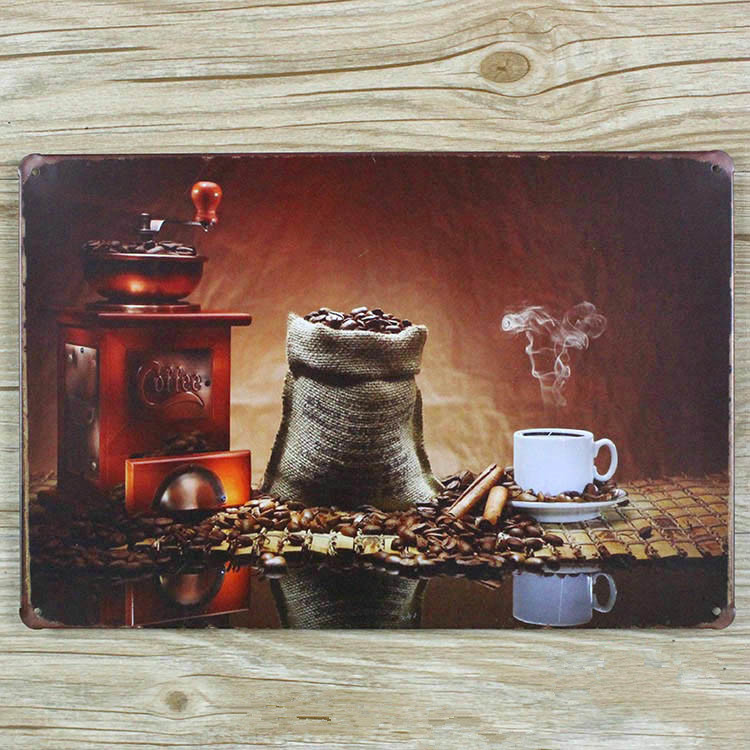 2015 Metal signs Vintage plaques Tin art wall sticker Coffee Retro decor home bar wall 20X30 CM Free shipping GY-00303 hot sale
