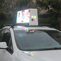 P2.5 P3 P5 3G/4G Wifi ,USB double side fullcolor advertising led sign taxi top led display waterproof