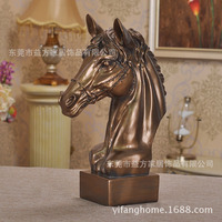European style furnishings resin craft horse ornaments crafts home furnishings living room European style decorations