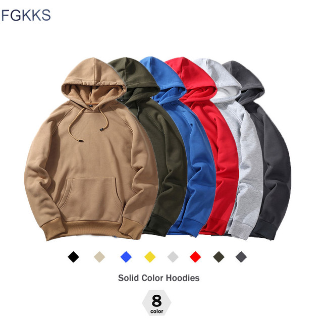 FGKKS 2018 nueva moda Primavera otoño sudaderas con capucha de hombre de gran tamaño caliente abrigo de lana de los hombres de la marca sudaderas con capucha sudaderas tamaño de la UE
