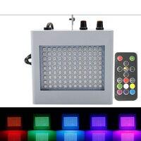 220V LED Strobe Lamp Flash Lights Sound Control Color Lamp Disco Ballroom Flash House Explosion Flashing Stage Light