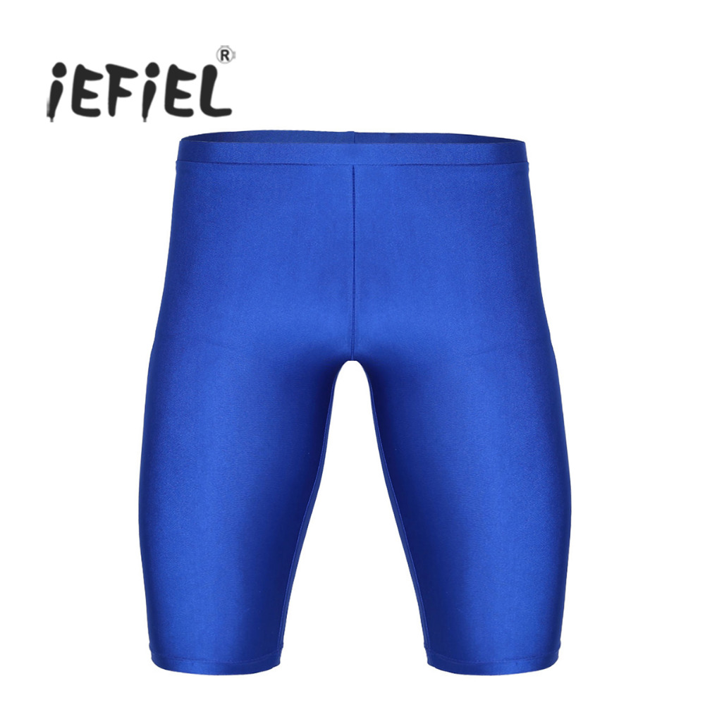 iEFiEL Mens Summer Beach Clothes Elastic Leisure Tight Shorts Quick Dry Compression Workout Gymnastics Leotard Short for Mens ...