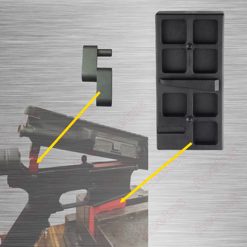 AR-15 Lower Receiver Vice Block And Upper Receiver Link Combo Set  Black