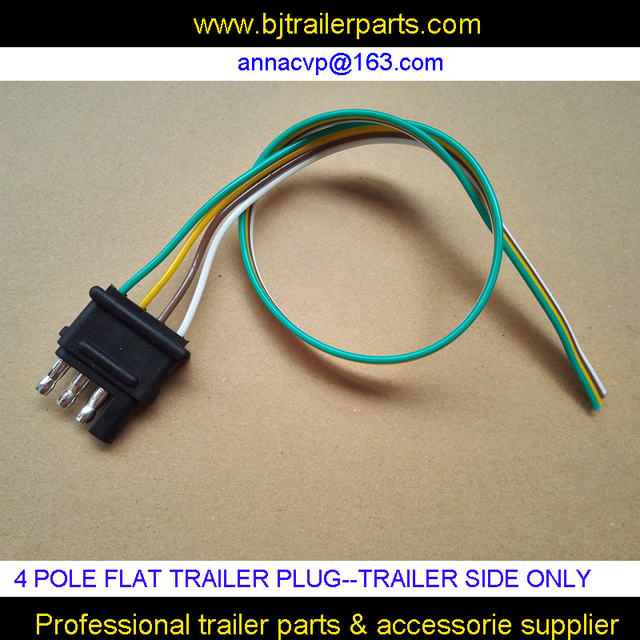 4 pole pin trailer plug, Flat trailer plug wiring harness kit ...  Pole Flat Pin Wiring Harness on 4 pin spark plugs, 4 pin ignition module, 4 pin power supply, 4 pin light bulbs,