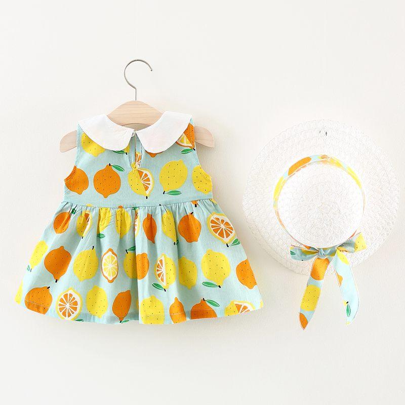Two-Pieces Summer Baby Girl Nieuwe jurk Kinderkleding Effen kleur - Kinderkleding - Foto 1