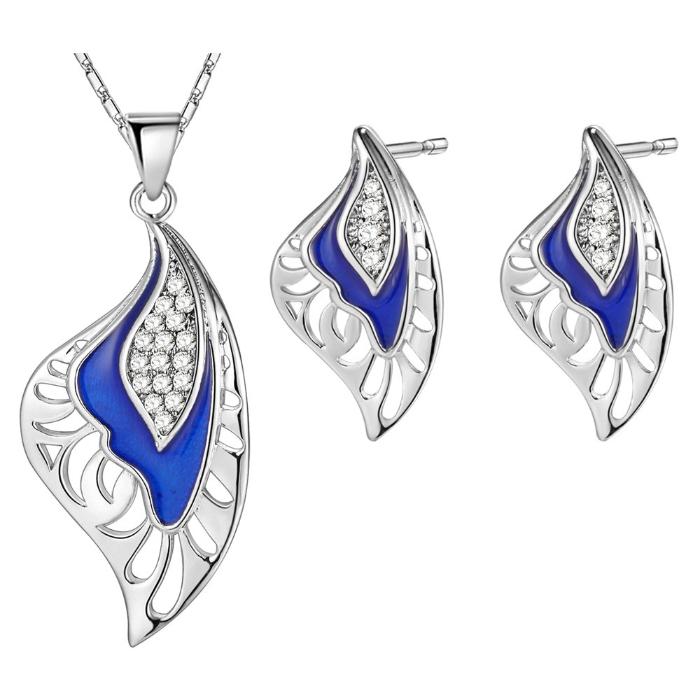 NPASON 2018 Fashion Jewelry Sets Wing Pendent Necklace Earrings Summer Style Fresh Jewelry Women/gril Gift Simple Design