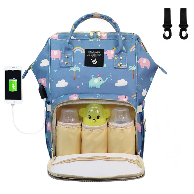 Newborn Baby Diaper Bag Diaper Backpack Bag Travel Nappy Backpacks Large Capacity Multi Function Usb Waterproof Mommy Diaper Bag