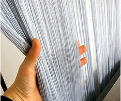 high density solid color string curtain 1 pcs