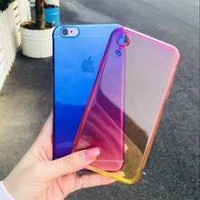 Gradient color Clear case for Iphone XR Silicon Ultra Thin Soft TPU For iphoneXR Transparent shockproof Protector Case