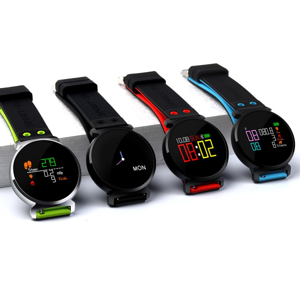 K2 Round Dial Pedometer Smart Band Blood Pressure Heart Rate Blood Oxygen Monitor Daily Waterproof Fitness Tracker WatchK2 Round Dial Pedometer Smart Band Blood Pressure Heart Rate Blood Oxygen Monitor Daily Waterproof Fitness Tracker Watch