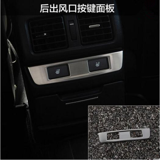 Car Rear Air vent Button Trim Decoration Sticker Cover Case For Subaru Outback Legacy 2015 2016 car styling auto accessories