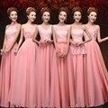 Largo color Coral dama De honor Vestidos más del tamaño vestido De dama De honor Vestidos De Festa barato De dama De honor Vestidos