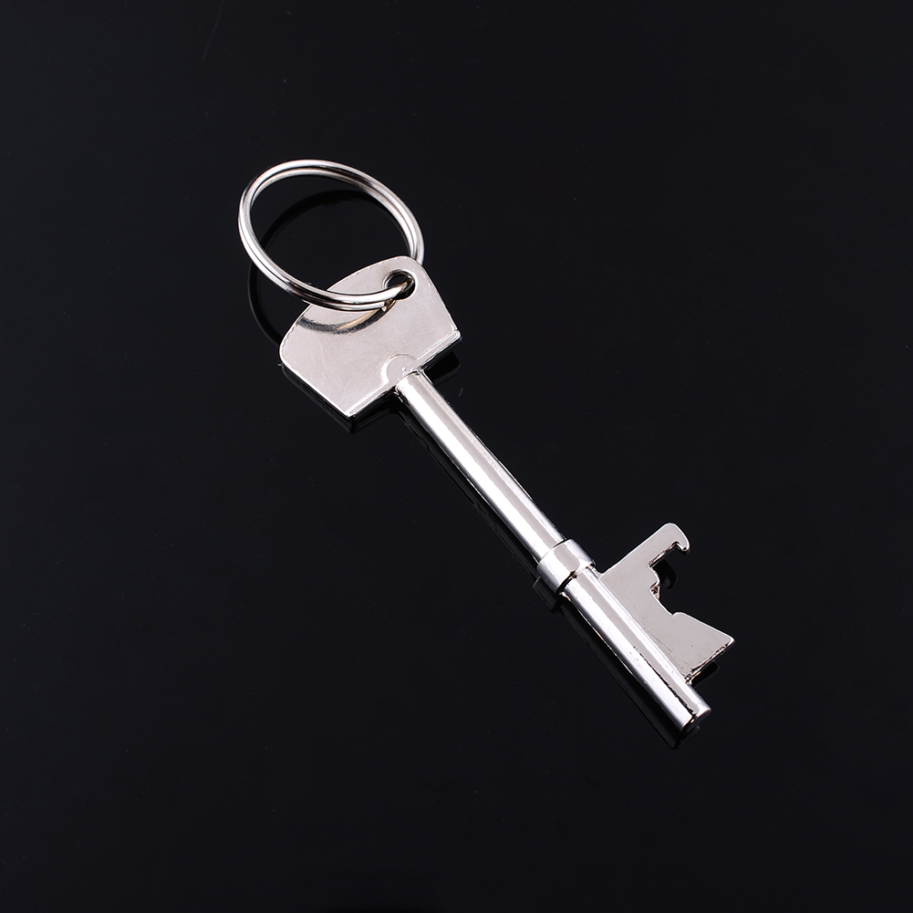 new stainless steel key shaped keychain keychain bottle opener buckle buckle wine beer soda. Black Bedroom Furniture Sets. Home Design Ideas