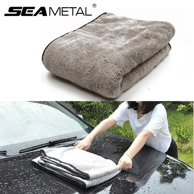 Car Wash Towel Microfiber Cloth Door Window 100x40cm Thick Cleaning Strong Water Absorption For Car Home Automobile Accessories