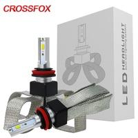 CROSSFOX 12V 60W 3000K 4300K 6000K Auto Lamp H7 LED H4 H1 H11 9005 9006 9003 HB2 HB3 HB4 H3 LED 9600LM Car Headlight Light Bulbs
