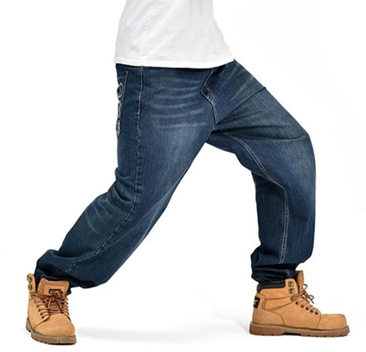 #1846 Trend Trousers Man Hiphop Skateboarders Denim Pants Autumn Winter Loose Fertilizer increased Plus Size hip hop baggy jeans