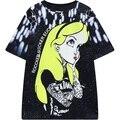 2016 лето новых женщин harajuku стиль с коротким рукавом футболки принцесса девушка печати tee топы женщины дамы лето футболка белый Т рубашка