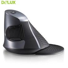 цена на Delux M618 Wireless Vertical Mouse Ergonomics 1600dpi Optical Mause Gaming 2.4GHZ Mice Computer Mouse for Desktop PC Laptop