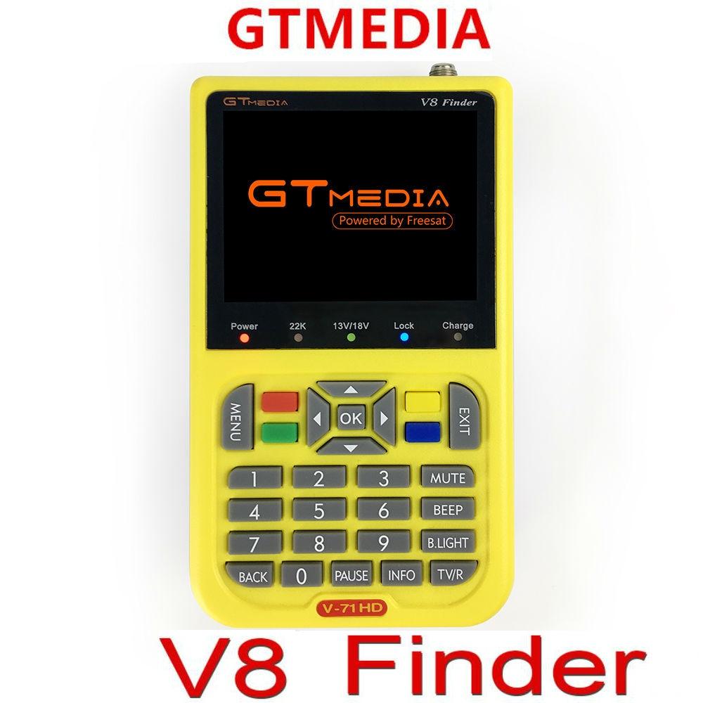 Freesat Gtmedia V8 Finder HD DVB-S2 High Definition V8 Satellite Finder Gt Media MPEG-4 DVB S2 Satellite Meter Satfinder 1080P original freesat v8 finder dvb s2 satellite finder high definition mpeg 4 v8 satellite meter finder