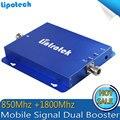 UMTS 850 МГц + 3 Г 4 Г LTE 1800 Dual Band Сотовый Телефон Повторитель CDMA 850 1800 мГц 65dB усилитель Repetidor Мобильный Усилитель Сигнала