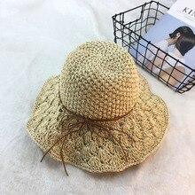 Summer new 2019 womens sun hat foldable hand-woven straw beach holiday visor outdoor fishing unisex big
