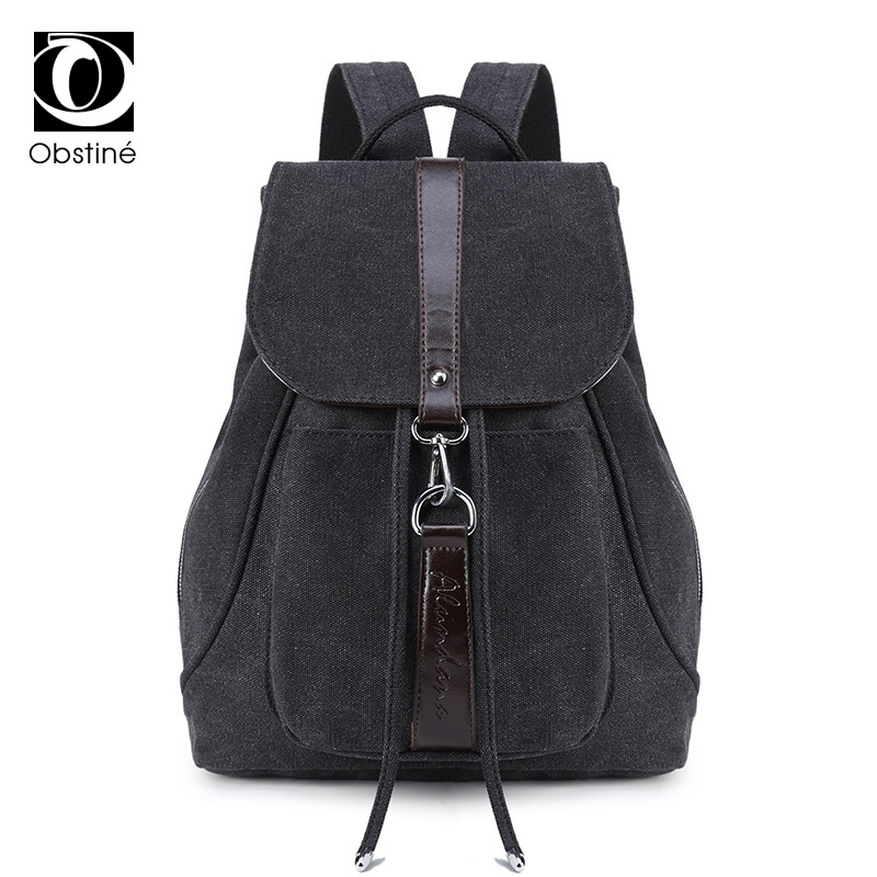 Female Canvas Backpack Anti Theft Vintage Travel Backpacks For Girls Black Jeans Bagpack Women College Back Pack For School Bags