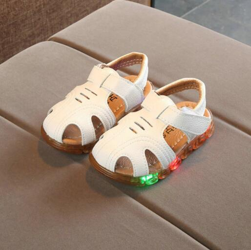 Children Sandals 2018 New Brand Boys Girls Sport Sandals Light Led Slip-resistant Children Baby Shoes Kids Beach Sandals EU21~30