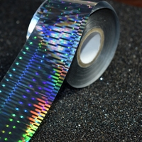 120m Roll Fashion Nail Transfer Foils Laser Stripe Patterns Nail Sticker DIY Nail Art New Decals