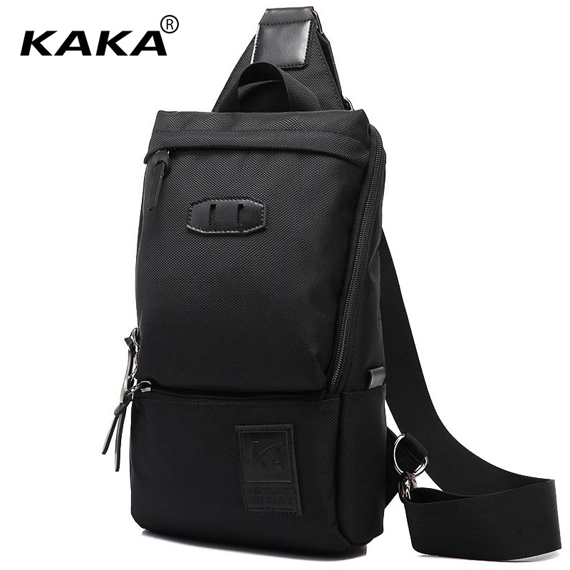 2017 KAKA Brand Designer Men Messenger Bags Korean Style Women Single Nylon Waterproof Chest Bags Cross Body Packs Shoulder Bags