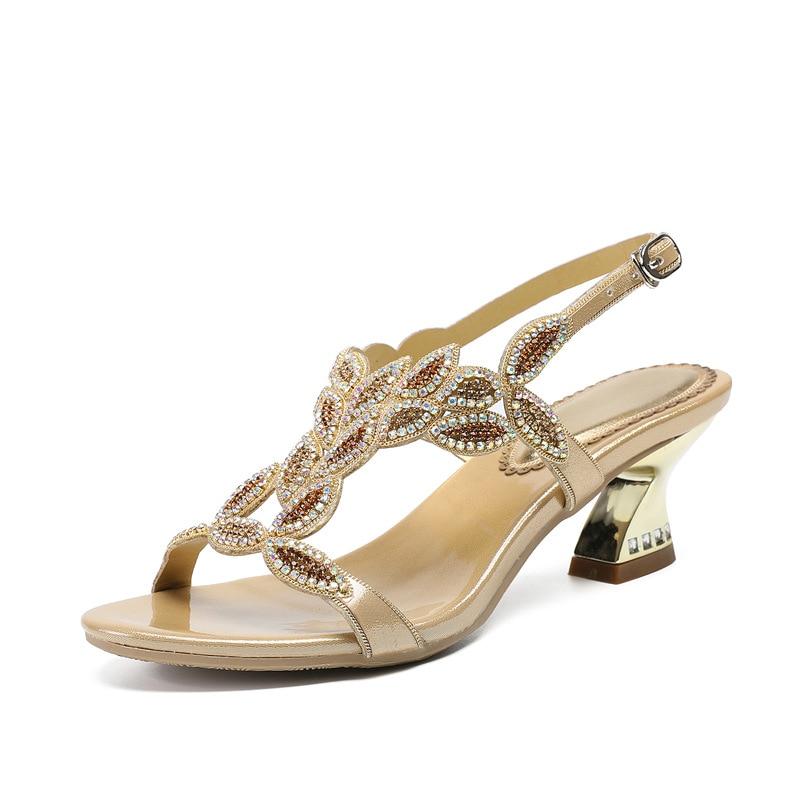2019 Sandale Mode Boucle D'été Strass Femmes Chaussures Cm De v0ymw8nOPN