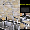 Free Shipping Various Style Solid Brass Chrome Finished Pull Out Down Sink Kitchen Faucet 2 Functions