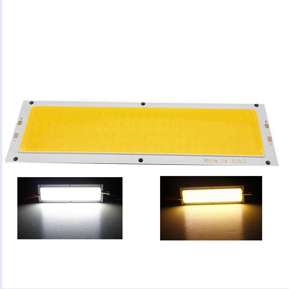 120mmx36mm Warm White Pure White COB LED Strip Lamp Lights Bulb 10W 1000LM Super Bright 12V - 24V For DIY High Quality