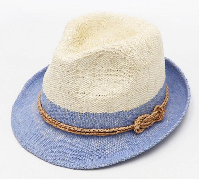 10pcs Unique Women Summer Trilby Hats Men White Beach Straw Fedoras Hat  Ladies Paper Straw Sun Caps Women Straw Fedora Wholesale c2e43c606e