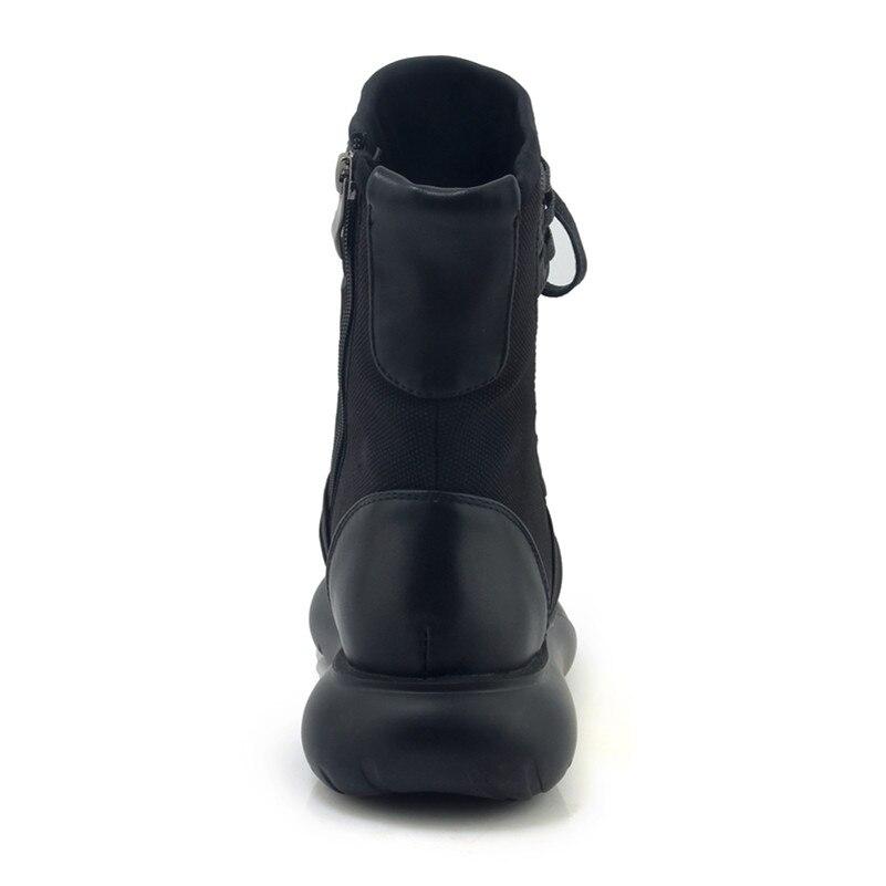 FEDONAS 1New Aankomst Vrouwen Enkellaars Cross gebonden Herfst Winter Warm Sneakers Ronde Neus Casual Concese Hoge Kwaliteit Schoenen vrouw-in Enkellaars van Schoenen op  Groep 3