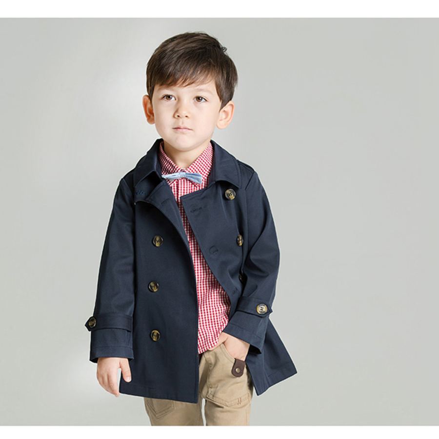2016 Fashion Trench Coat Boys Autumn Spring Korean High Quality Warm Clothes Kids Boys Windbreaker Jacket Casual 70F1581 цены онлайн
