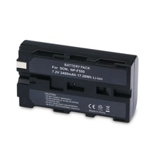 NASTIMA 7 2V 2400mAh NP F330 Li ion Battery for Sony NP F530 NP F550 NP