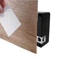 Домашний офисный шкафчик 13,56 МГц Блокировка Карты черный Электронный невидимый скрытый замок шкафа