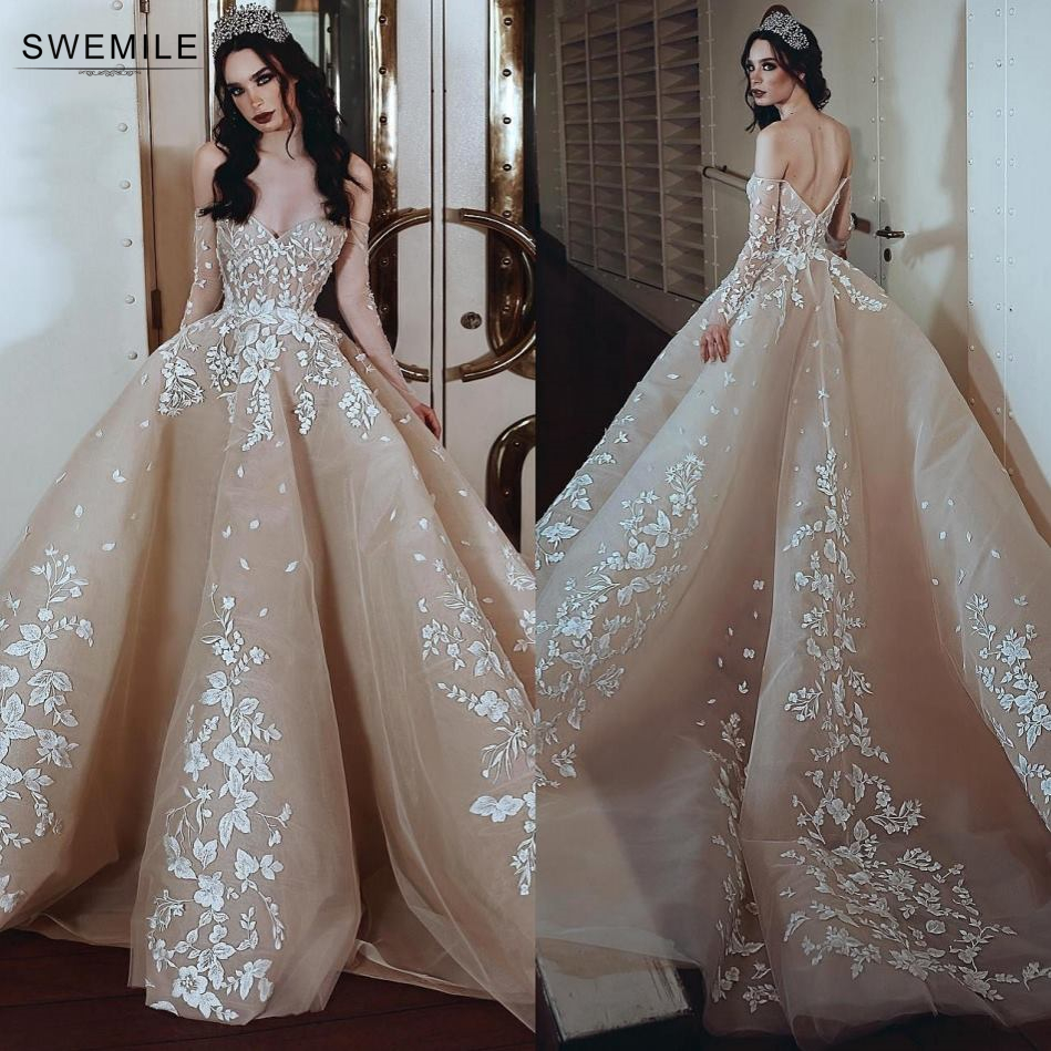 Vestidos De Gala Sexy V-Neck Backless Prom Dresses 2019 Elegant Lace Appliques Prom Gowns Off The Shoulder Long Party Dresses