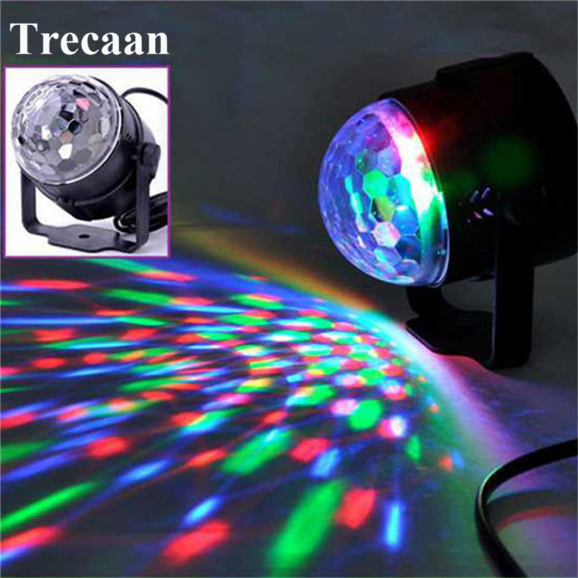 LED Stage Lamps Crystal Magic Ball Sound Control Laser Projector Stage Effect Light Party Disco Club Karaoke DJ Light Wedding