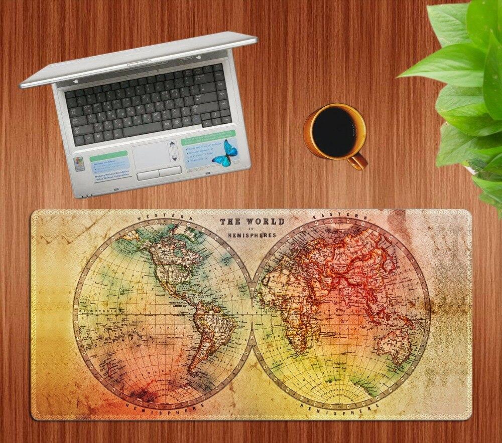 70x30 см Новая карта мира большой Мышь большой коврик супер Скорость Мышь Pad Америка Мода ноутбука Тетрадь клавиатура, коврик XL