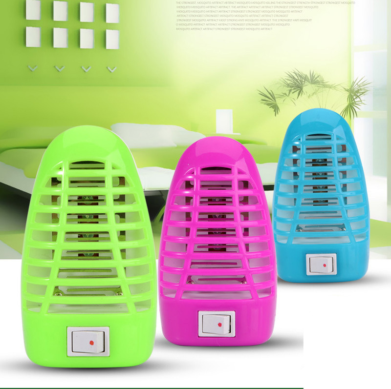 Emergency Light Led Electric Mosquito Fly Pest Bug Insect Killer Night Lamp European Plug Physical mosquito killing 220V 50Hz
