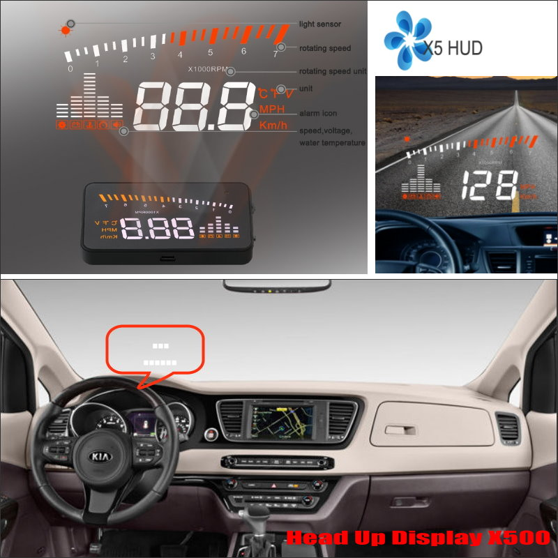 For KIA Sedona / Sorento / Sportage 2015 2016 - Car HUD Head Up Display - Safe Driving Screen Projector Refkecting Windshield купить в Москве 2019