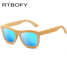 RTBOFY Kids Wood Sunglasses Boys Square Polarized Children Safety Radiation Protection Girls Sun Glasses UV400 Eyewear ET03
