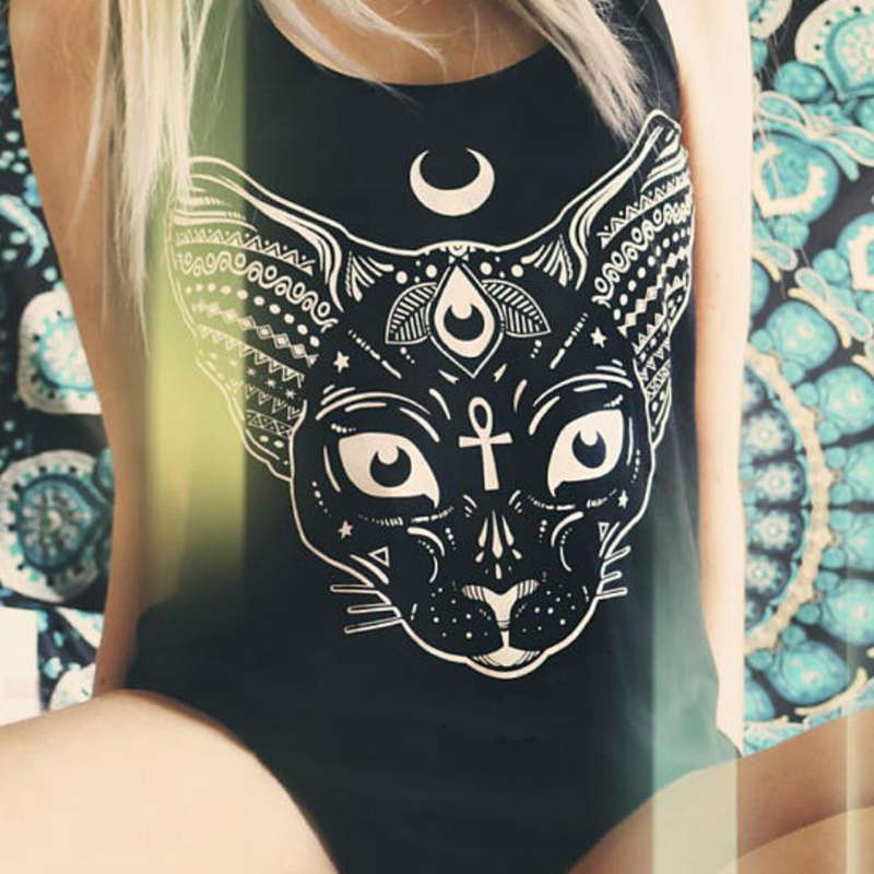Sphynx Pastel Goth   Tank     Top   Aesthetic Shirt Pastel Soft Grunge Women   Tops   Acid Shirt Sphynx Cat 2019 Sexy   Top   Off Shoulder Vests