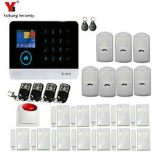 YoBang Security Android IOS APP WIFI 3G WCDMA/CDMA RFID Sense Smart Home Security Alert System Wireless Flash Strobe Siren.