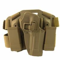 4en1 Tactical Muslo de La Pierna Plataforma Holster w/Revista y Antorcha Bolsa Pistolera PARA M9 92 96